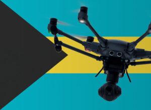 Drohne fliegen auf den Bahamas