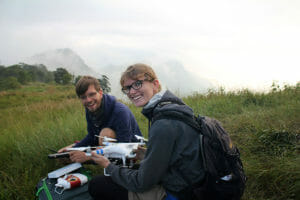 Unterwegs mit dem Drohnen-Rucksack