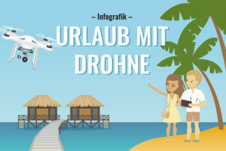 Drohne im Urlaub - Infografik mit den kuriosesten Fakten