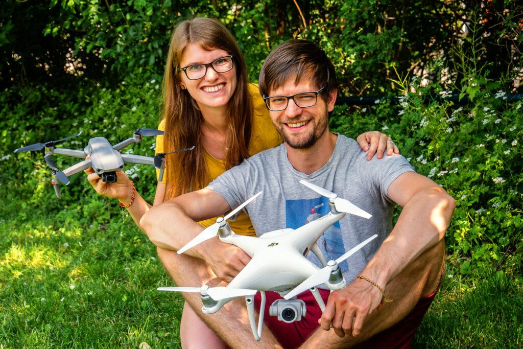 Sabrina und Francis: die Gründer vom Drohnen-Camp