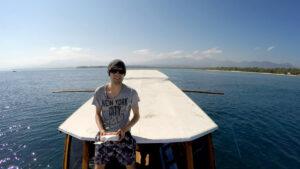 Drohne vom Boot gestartet