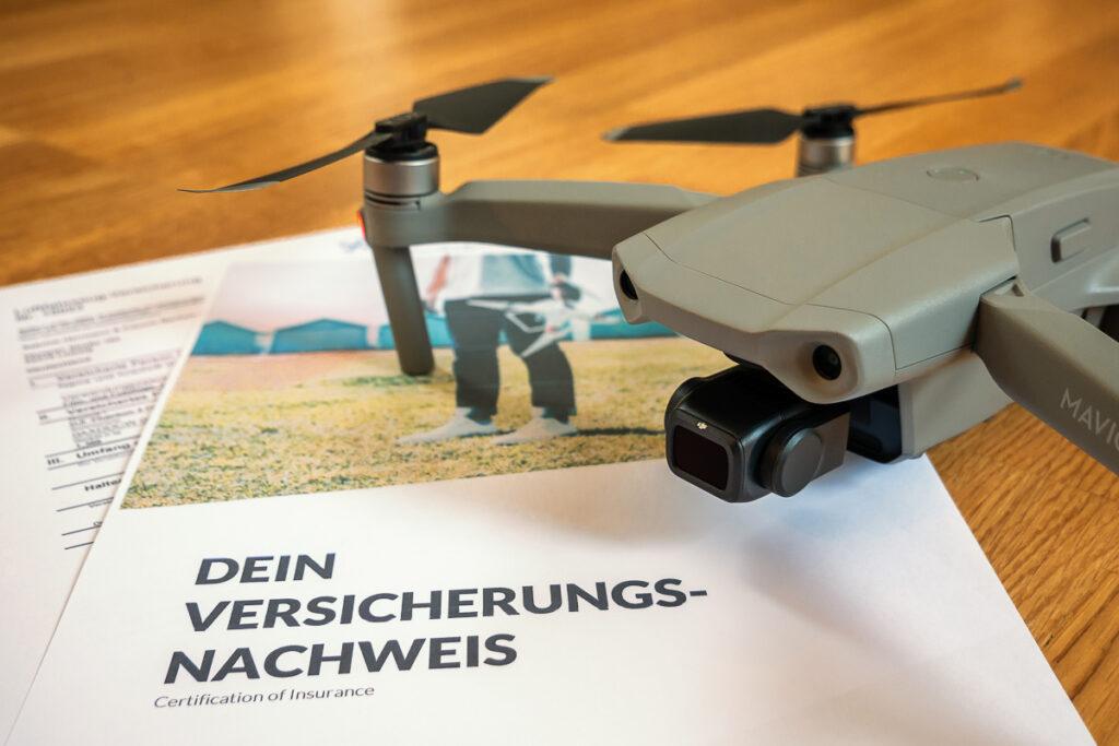 Drohnenversicherungs-Nachweis für die DJI Mavic Air 2