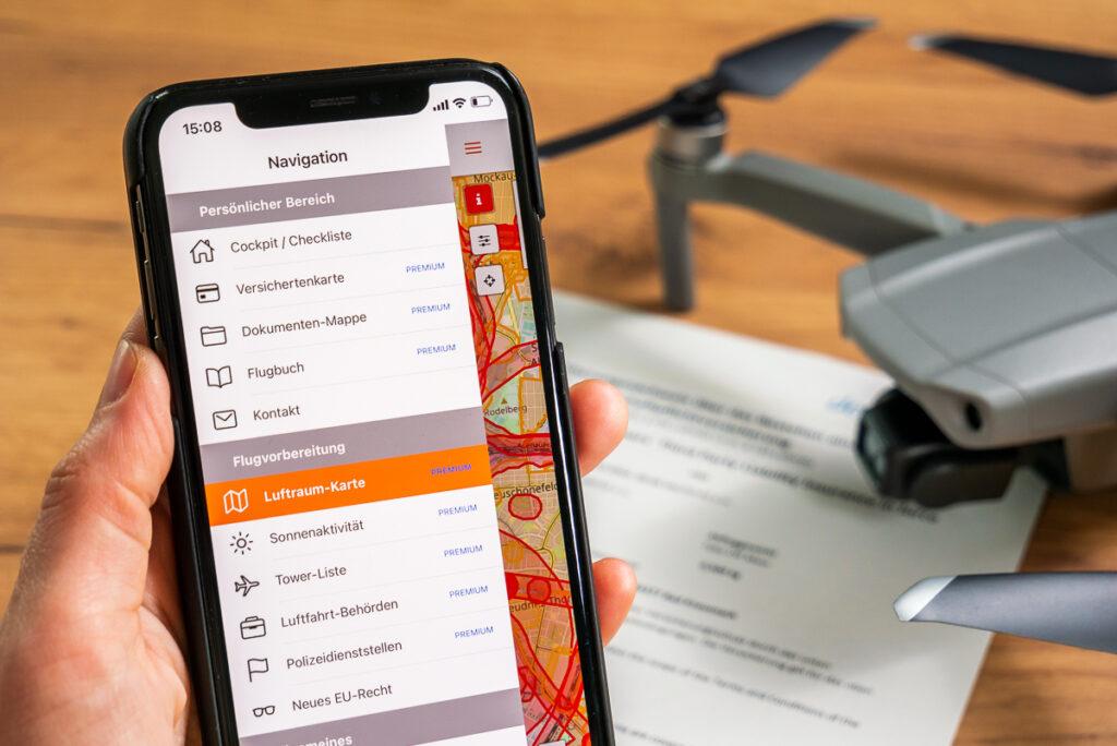 Zur Drohnen-Versicherung bekommst zu als Bonus den Zugriff zur Kopter-Profi-App