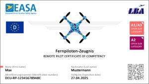 Muster des Großen Drohnen-Führerscheins