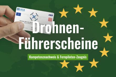 EU-Drohnen-Führerscheine, EU-Kompetenznachweis, Fernpilotenzeugnis A2