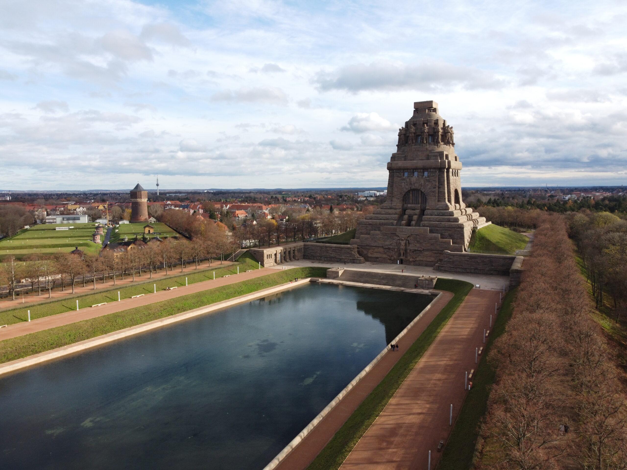 Luftaufnahme Völkerschlachtdenkmal Leipzig