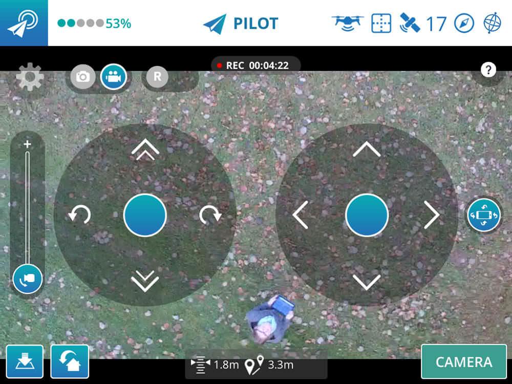 Die App für die Yuneec Breeze Selfiedrohne