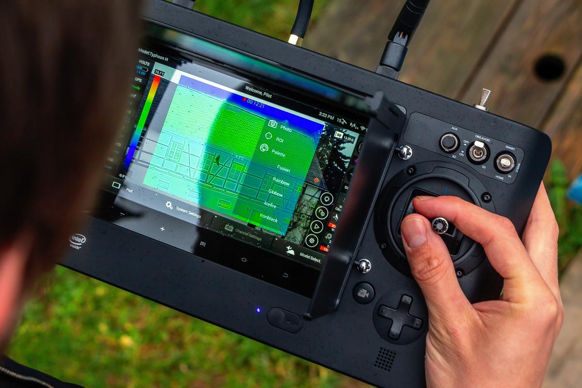 Yuneec Typhoon H-Drohne mit Wärmebildkamera
